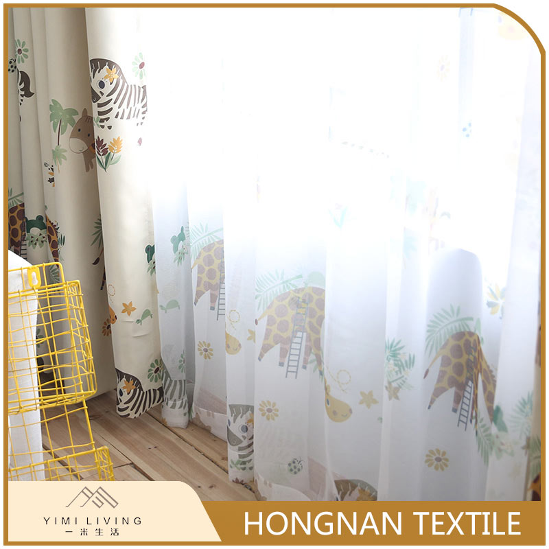 Wholesale good sealed nice voile kids cartoon curtains