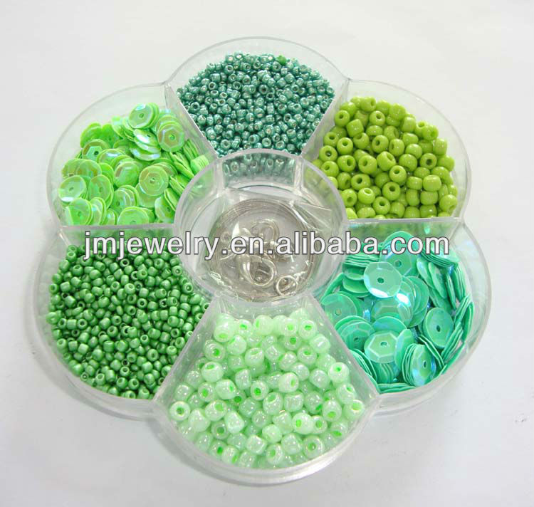 seed beads with sequin diy jewelry kit for making necklace