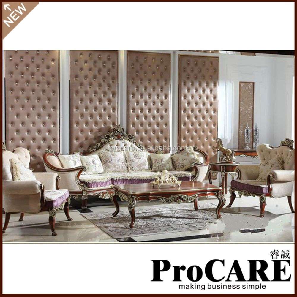 Luxury Living Room Furniture Sofa Sets Made By Solid Wood Buy High Quality