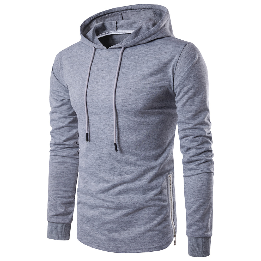 Mens Workout hoodies with no brand Slim Fit Fashion Hooded Sweatshirt Sports Hoodie