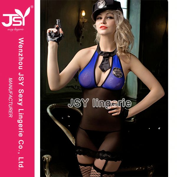 Most popular unique design policewoman cosplay party uniform with good prices