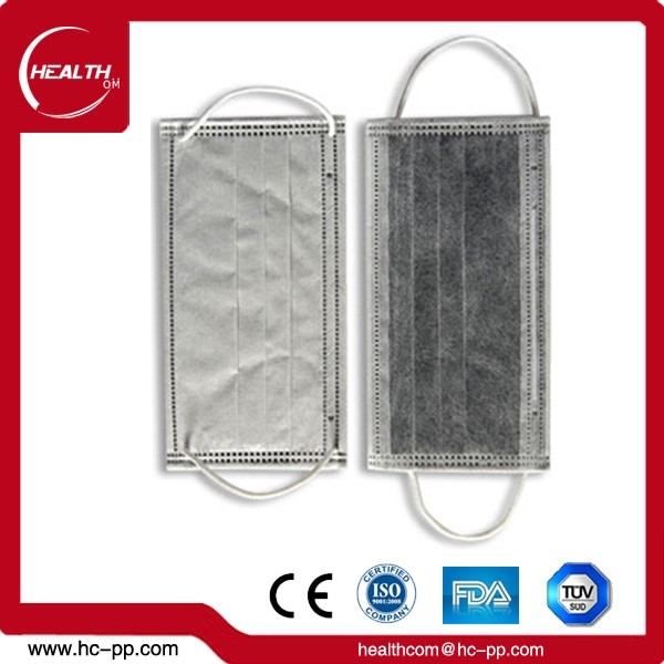 Disposable 4ply 17.5 * 9.5 cm OEM Acceptable Non-woven Ear Loop Activated Carbon Mouth Cover Face Mask