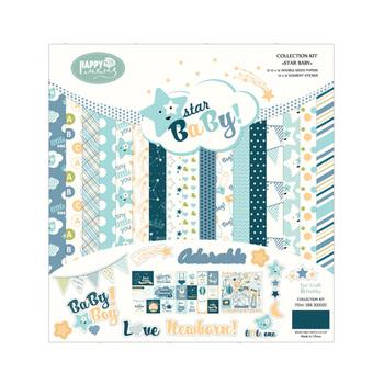 Star Baby Bule Theme 12x12 Decorative Scrapbook Paper Wholesale