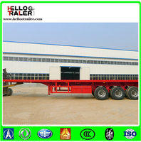 20ft Carbon steel container flatbed trailer 3 axle flatbed utility trailers for container transport