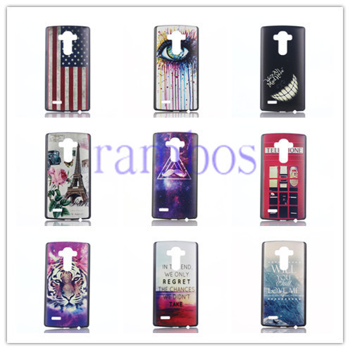 Hot Selling Painting Hard Back 3D PC Plastic Cover Case Capa Para for LG Optimus G4