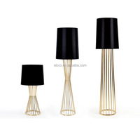 Modern Table Lamp Led Bulb Fabric Shade Cheap Price Purple Color ...