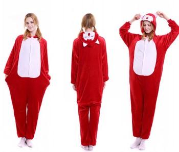 heated flannel funny cartoon animal onesie 2017 family christmas pajamas wholesale