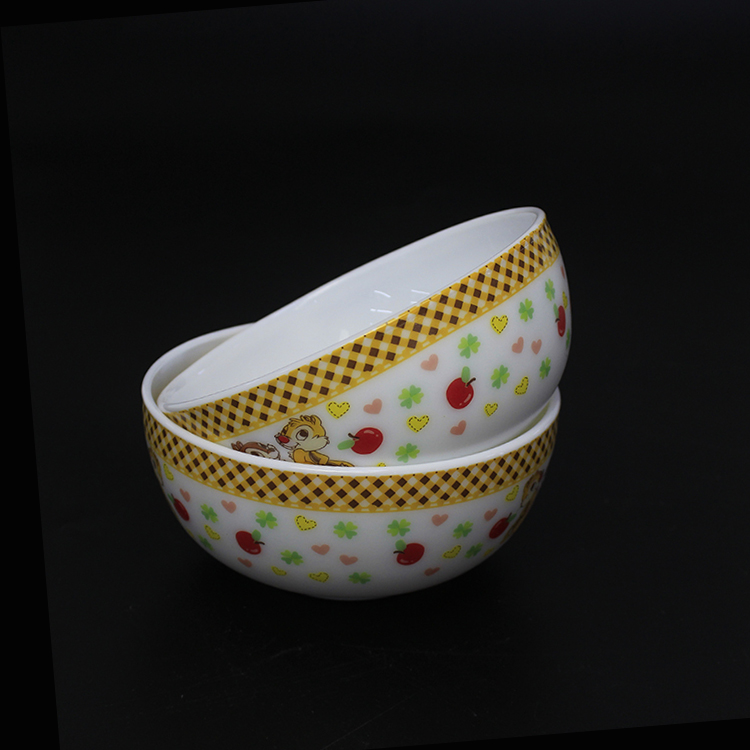 Customized floristic unbreakable fruit opal glass bowls