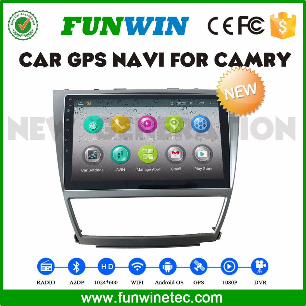 "Funwin 10.1"" Android 4.4.2 car dvd player quad core lcd display for Toyota Camry stereo 2008-2011"
