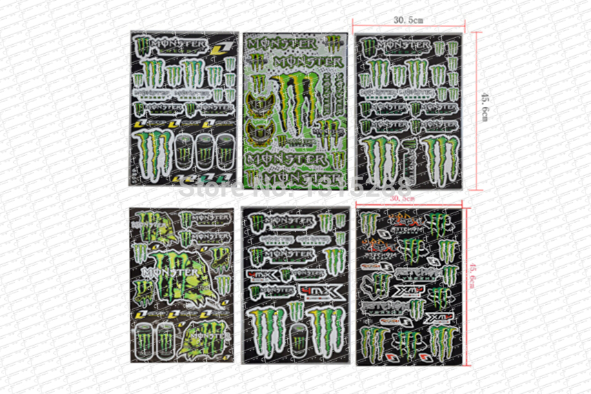 Buy 6pcs Decals Stickers For Pit Bike Dirt Bike Motorcycle Motocross