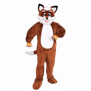 Brown Fox Funny Mascot Costume Adult Size Promotional Cartoon Costume