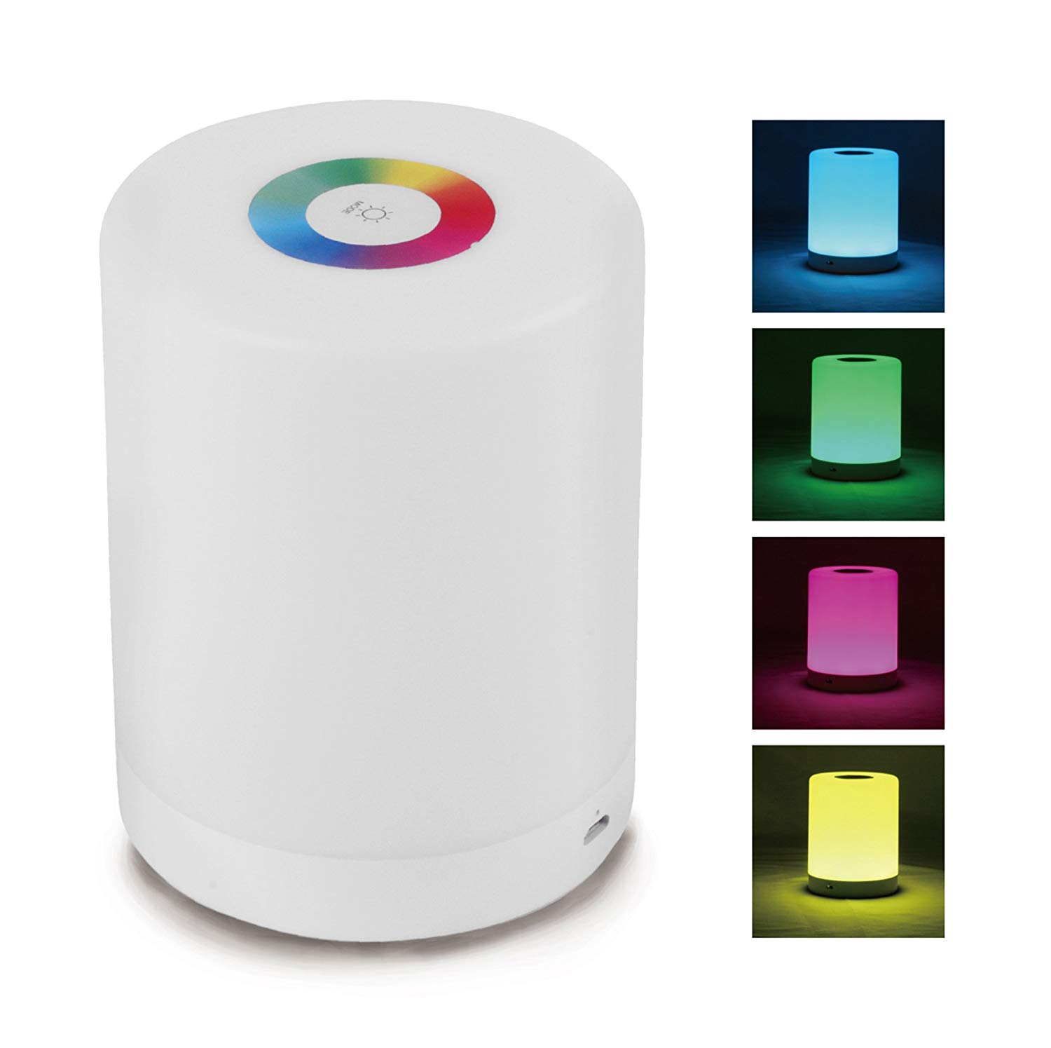 LED Table Lamp, Touch LED Lamp, Table Lamp LED, LED Bedside Table Lamp, Warm White Light & Color Changing RGB LED Accent Desk Lamp, Rechargeable Dimmable Night Light, Reading Lamp - 4.5 x 3.5 inches