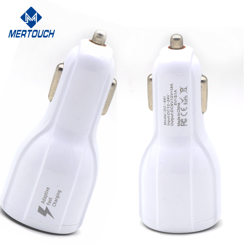 For iphone 7 USB car charger 3.1A fast adapter for Samsung S8 plus 3-port mobile phone car charger