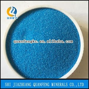 Lowest price Silica colored sand for construction/China QF factory