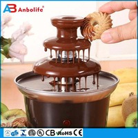 Double Triple family chocolate led fountain commercial commercial sale in china chocolate fondue fountain
