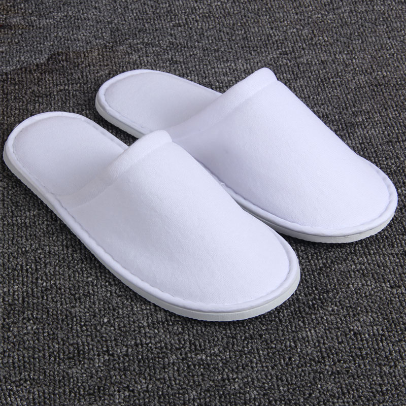 Factory supply straight type disposable white winter slipper hotel