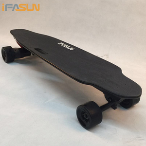 best quality long board 1000W*2 high quality samsung battery blank maple deck Electric Skateboard with wireless remote