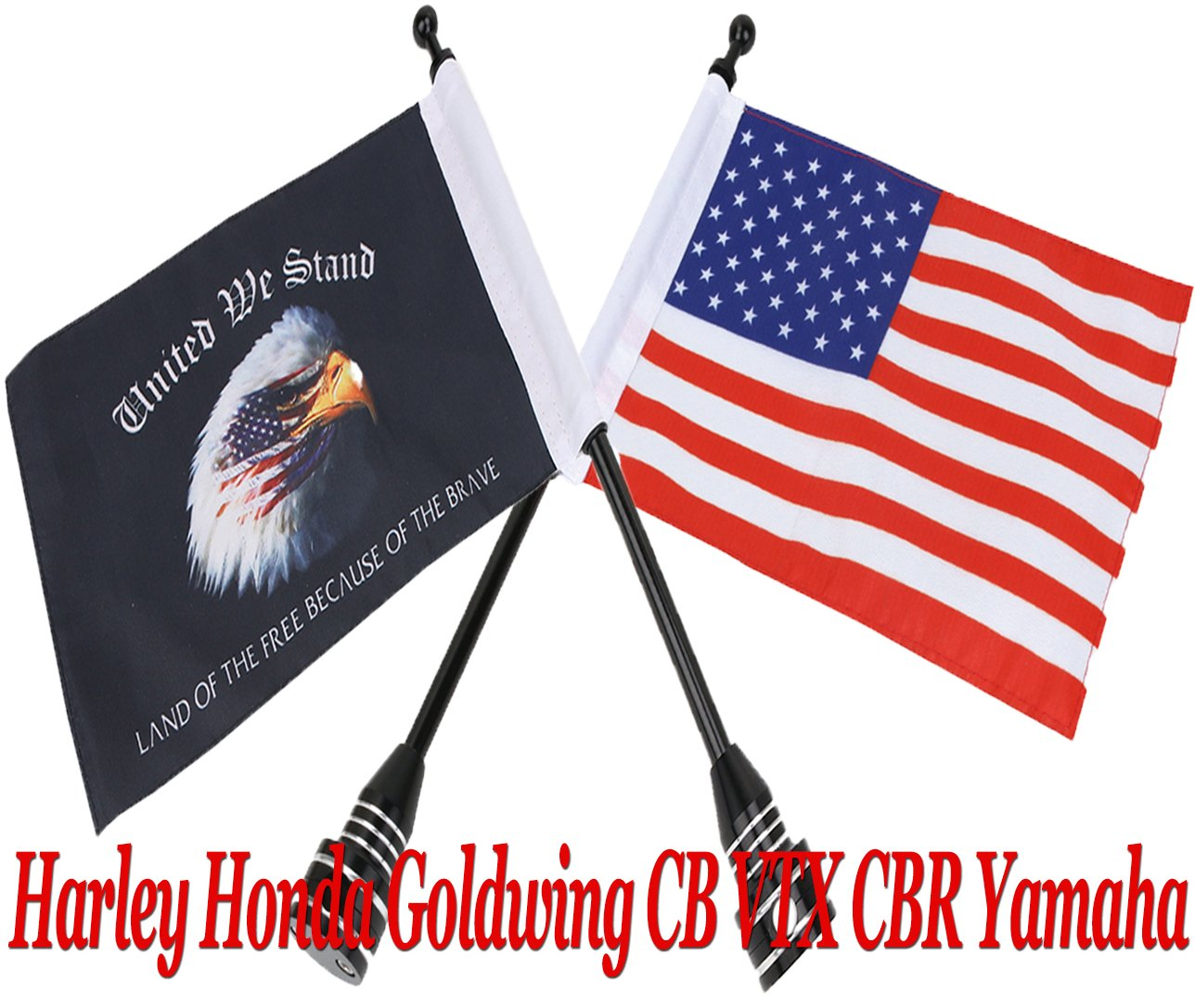 """Red Billet Aluminum Bolt for Harley Mounting Seat to Top Fender /""""USA FLAG/"""""""