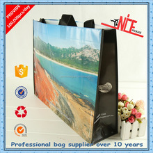 100% virgin non woven customized high quality opp laminated shopping bags for promotion