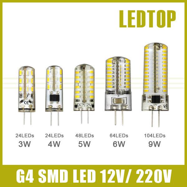 buy 3w 4w 5w 6w 9w smd3014 g4 led lamp dc. Black Bedroom Furniture Sets. Home Design Ideas