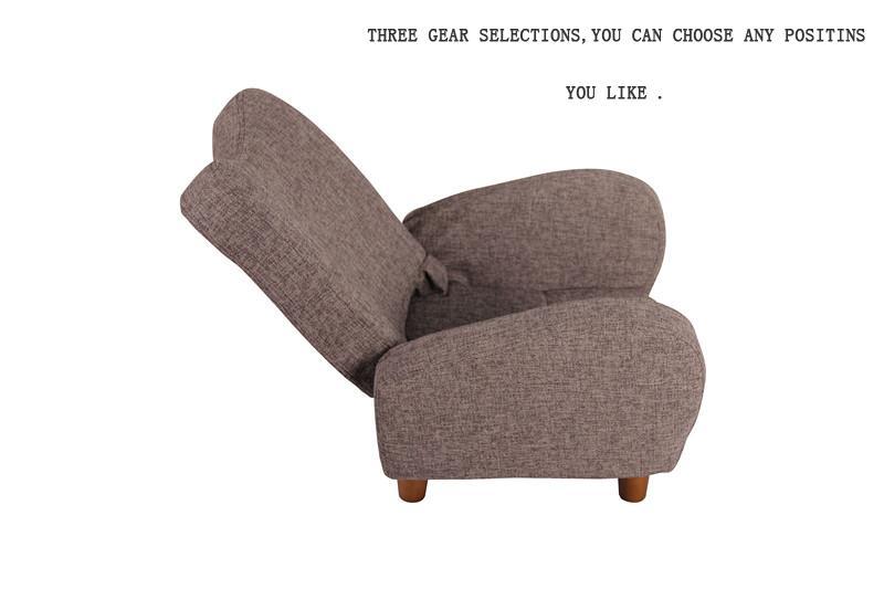 Moderne stijl vrijetijdsbesteding comfortabele stof enkele zetel
