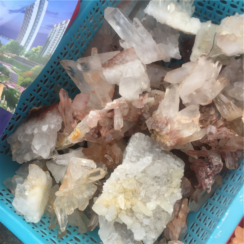 Groothandel Natural Clear Quartz Raw Crystal Cluster voor Home Decoratie