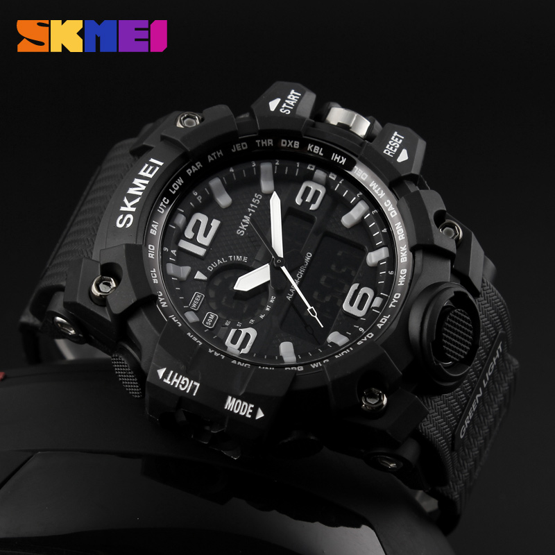 China Skmei Factory Stop Men Oversize Watches Set Digital Wrist Watch