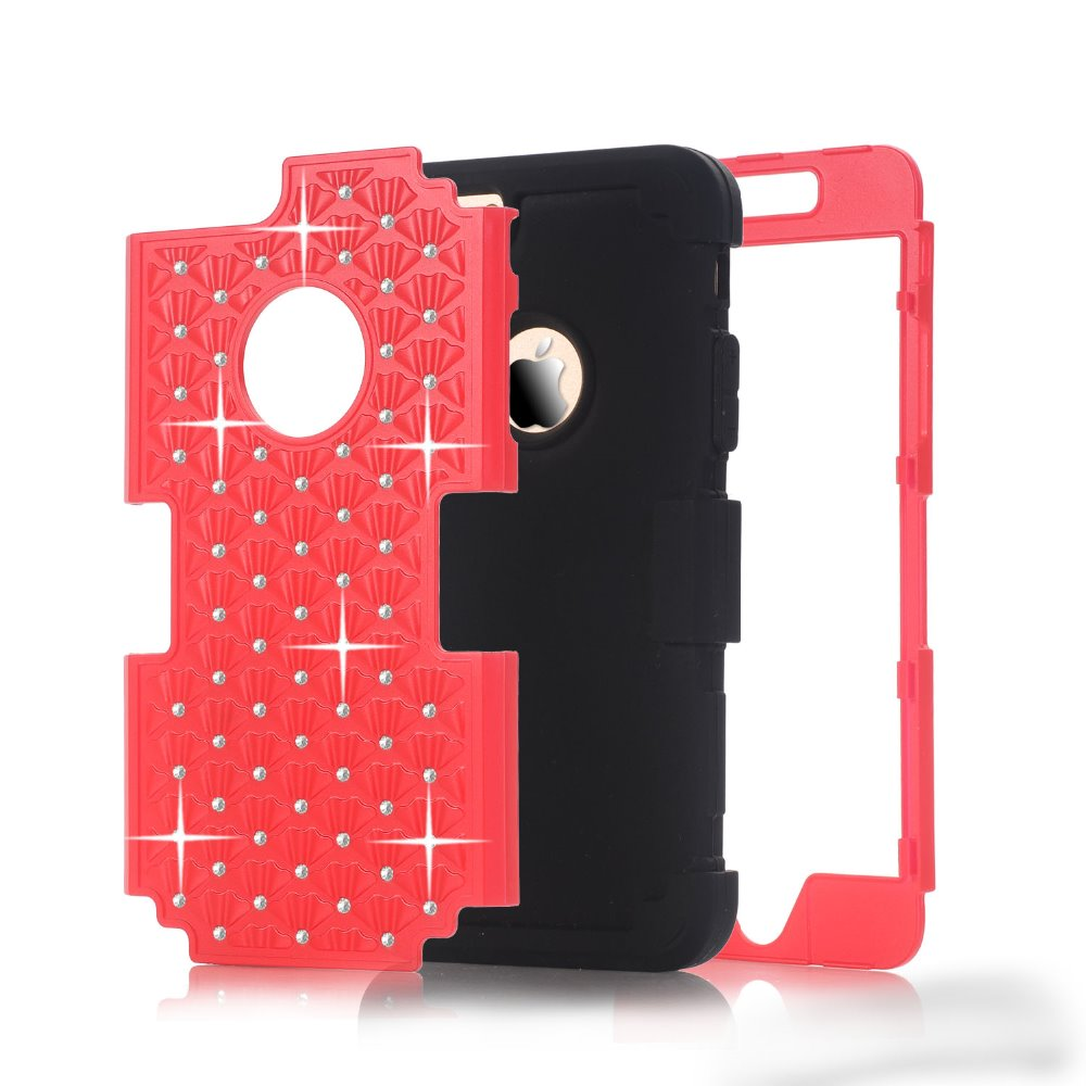 Case For Apple iPhone 6 6s PC + Silicone 3 in 1 Tough Armor Case For iPhone 6 6s Plus Anti Shock Hard Impact Back Cover