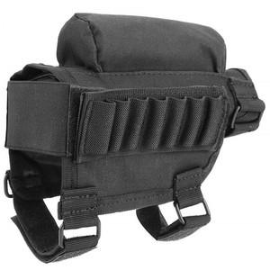 Tactical Adjustable Rifle Cheek Pad Buttstock Cartridge Holder Triple Hook  and Loop Adjustment,Removable Padded Insert