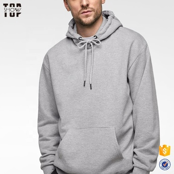 Hot sale clothing hoodie mens streetwear gray cotton hoodie with pouch pocket