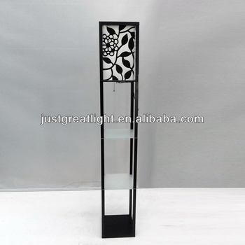 Hot Sell Glass Shelves Luxury Floor Lamp For Hotel Decoration Buy