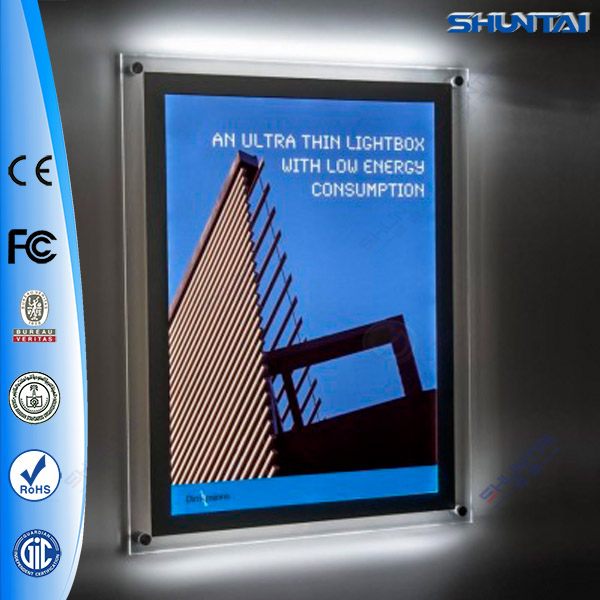 Led Lighted Crystal Backlit Acrylic Sandwich Poster Board ...