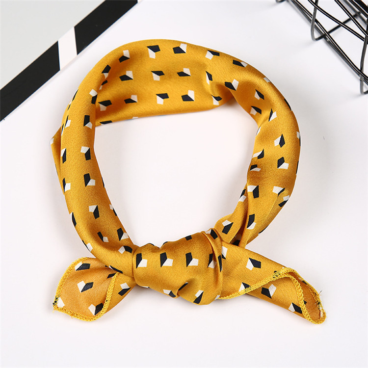 BSCI Audited Factory Wholesale Custom Print Stain Hair Scarf Women