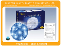 3D Shining Crystal Earth Puzzle With LED Light