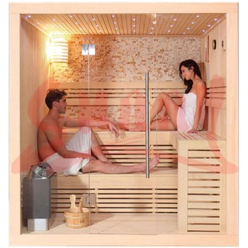 3-4 persons traditional wet sauna room, stove sauna cabin