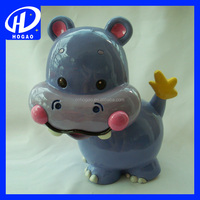 Promotion Ceramic Hippo Coin Bank