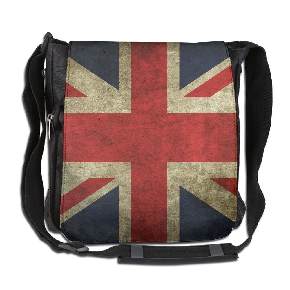 Unisex Narrow Diagonal Shoulder Bag Vintage Retro UK Flag Printed Casual Messenger Single Shoulder Bag Adjustable Shoulder Tote Bag