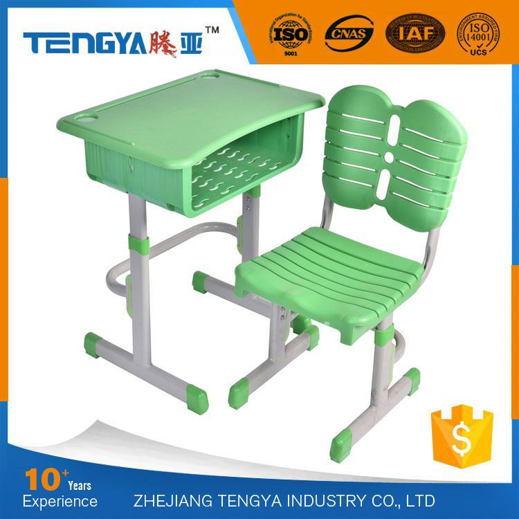 Colorful Height Adjustable Plastic Child Study Table
