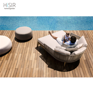 Luxury hotel project used hotel pool furniture teak wood sunbed sun lounger