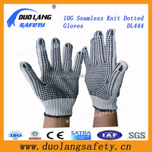 China Cheap Knit Glove With PVC Dots/Breathable Cotton Glove