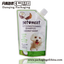 cosmetic packaging for pet, stand up pouch with spout,customized doypack(DQA01517)