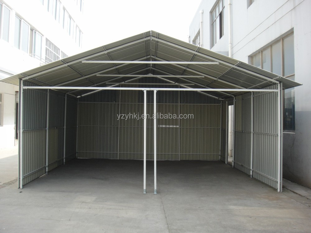 Cheap metal 2 cars garage for sale buy sheet metal for Cheap garages for sale