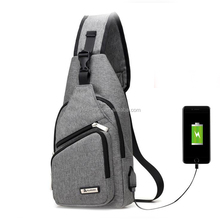 One Strap Bookbag for Students USB fashion School Packbags