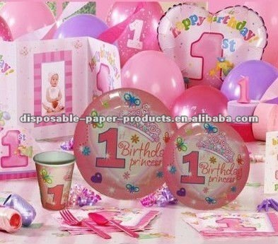 Princess 1st Birthday Party Supplies The Big One Including Tableware Decorations Favors