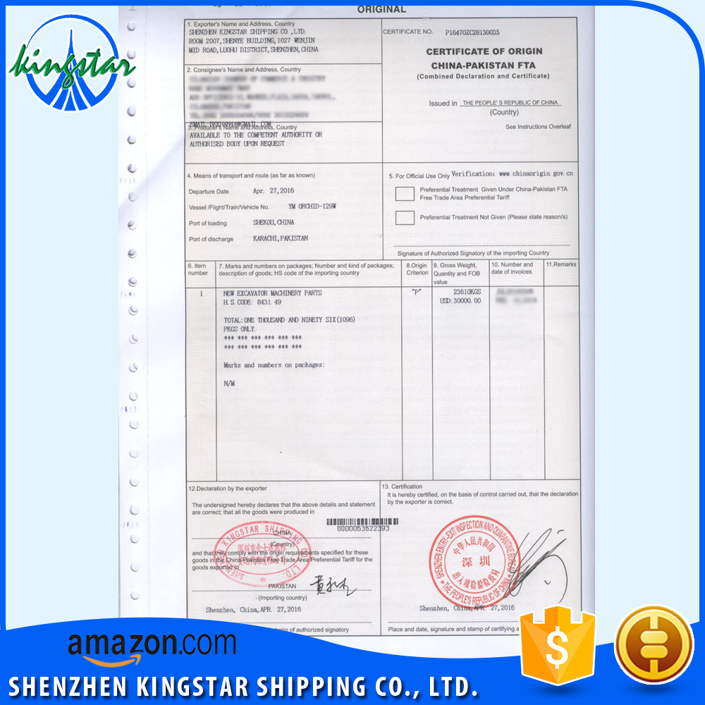 Export Pakistan Fta Service Sandals Slippers Certificate Of Origin