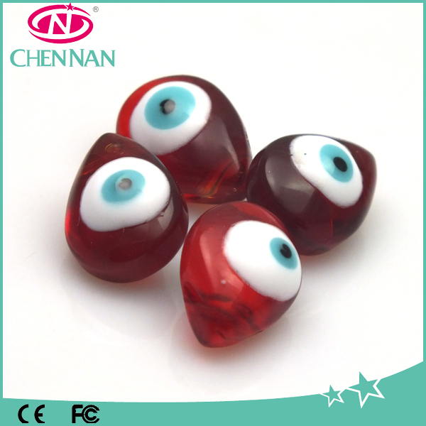 Original scarlet blood series crystal evil eye ball glass beads