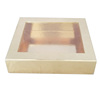 Luxury Gold Foil Paper Packaging Box with PVC Cover