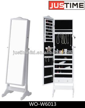 Madera que espejo con gabinete para dormitorio pintado a for Gabinete de almacenamiento dormitorio