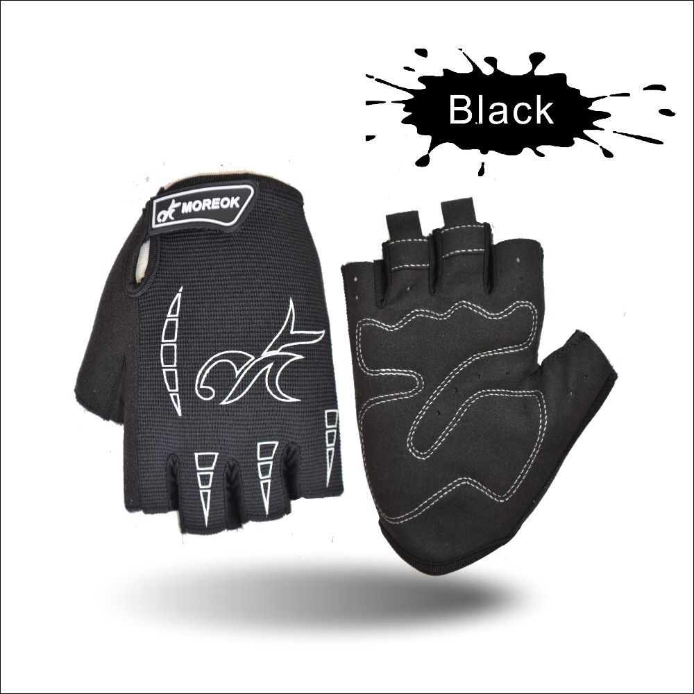 MOREOK Sports Racing Equipment New Sponge Men Polyester Thin Mtb Bike bicycle Cycling Gloves in Half Finger
