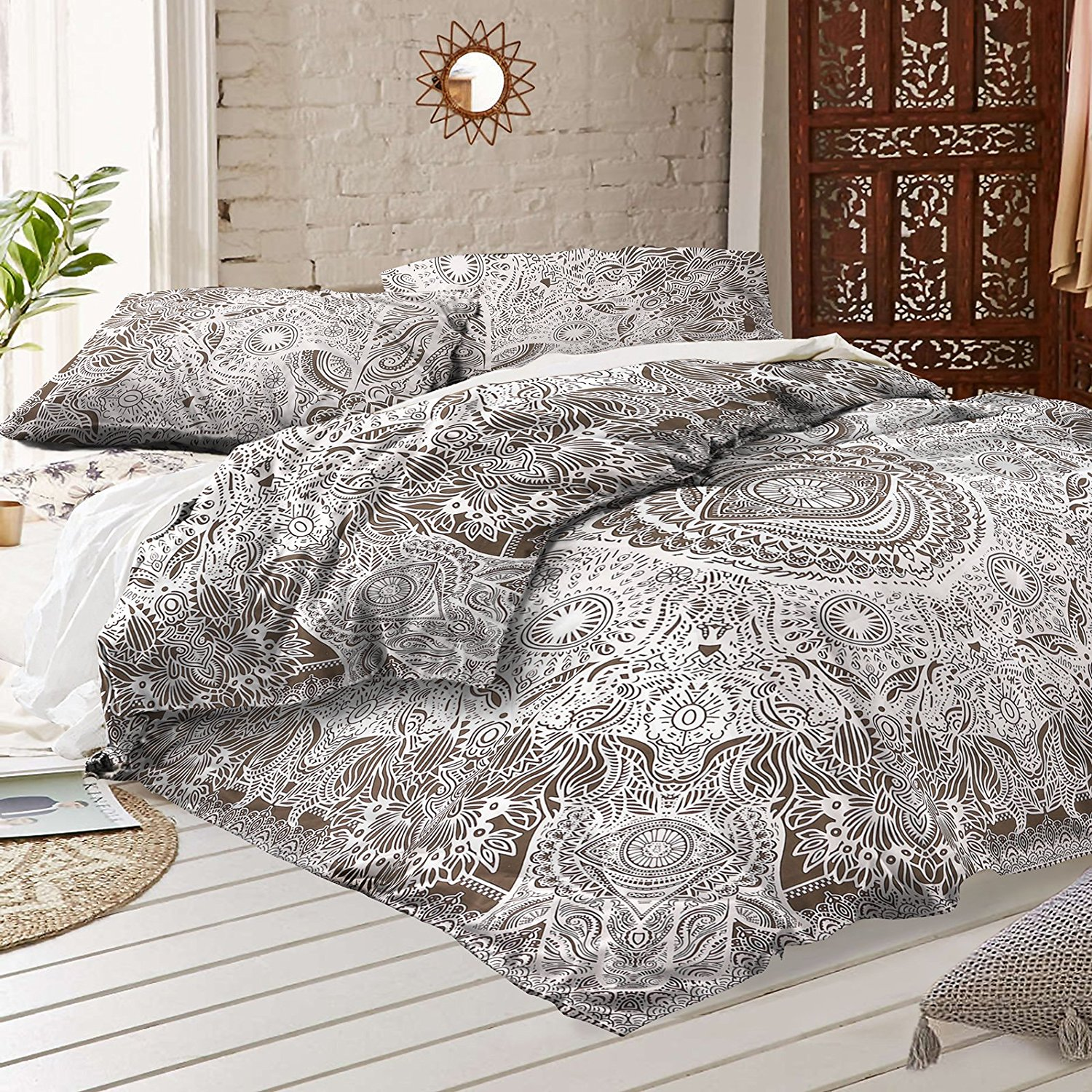 detail bohemian dada product bedding patchwork cotton set partners collection quilt reversible our real